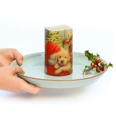 Christmas Dog, Before Christmas, Scented Candles, Pillar Candles, Santa Decorations, Tabletop Accessories, Burning Candle, Dog Lover Gifts, Dekoration