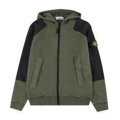 741e6a9e STONE ISLAND JUNIOR Boys Compass Patch Hoodie - Khaki Boys hooded  sweatshirt • Soft cotton jersey