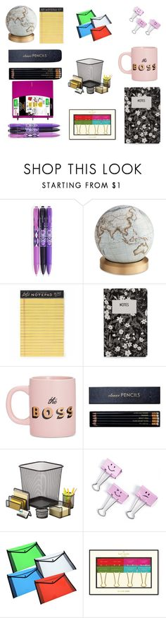 """""""Untitled #65"""" by marijanadjukic ❤ liked on Polyvore featuring interior, interiors, interior design, home, home decor, interior decorating, Vera Bradley, Bellerby & Co, Rifle Paper Co and Design Letters"""