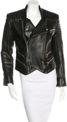 Balmain Leather Biker Jacket  https://api.shopstyle.com/action/apiVisitRetailer?id=616936802&pid=uid2500-37484350-28