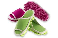 I could get my kids to clean with these cleaning slippers!