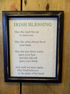 Irish Blessing Print -  Vintage Black Frame - Customized -Love- Wedding Gift - Wall Decor-Nursery-Baby Gift