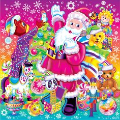 Lisa Frank Stickers, Merry Christmas Eve, Santa Christmas, Vintage Christmas, Magical Christmas, Christmas Time, Christmas Decor, Images Wallpaper, Wallpapers