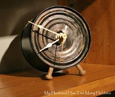 Tin can painted with a rustic industrial  vibe is upcycling at it's best. #DIY…