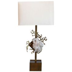 Architectural carrera marble table lamp usa 1960s carrera bronze table lamp with quartz accent attributed to duval brasseur sold aloadofball Gallery