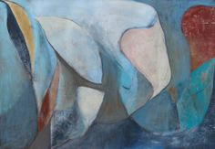 Maine Series, 2013, 44 x 64 in., acrylic and oil pastel on canvas