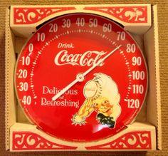 vintage coca cola thermometer New In Box