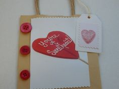 Valentines  gift bag and tag set. valentines by Pearlypantscrafts, £4.50