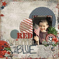 red white and blue. - Scrapbook.com
