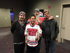 Ming Chen (@mingchen37) | Twitter Comic Book Men at the opening New Jersey Devils game of 2016.