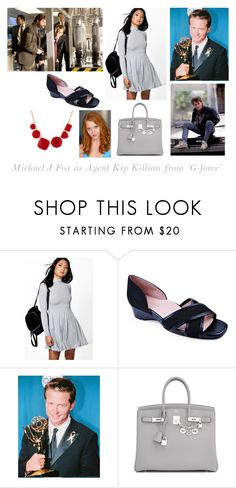 """Disney dream cast: Michael J Fox as Agent Kip Killian from 'G-force'"" by sarah-m-smith ❤ liked on Polyvore featuring Boohoo, Taryn Rose, Hermès and Les Néréides"