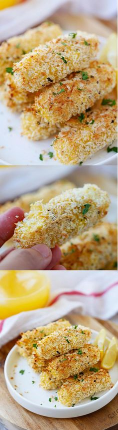 Baked Mozzarella Cheese Sticks - crispy cheese sticks coated with Japanese panko and baked to golden perfection. Easy peasy recipe that everyone loves! | rasamalaysia.com