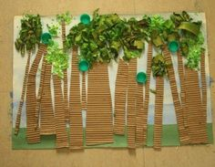Preschool Crafts for Kids*: Earth Day Recycled Collage Forest Craft Rainforest Activities, Rainforest Theme, Art Activities, Rainforest Crafts, Jungle Activities, Rainforest Habitat, Preschool Jungle, Jungle Crafts, Preschool Crafts