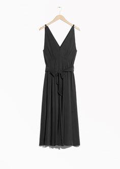 b0c402d57fa2  amp  Other Stories image 2 of Silk Dress in Black Dress Cuts
