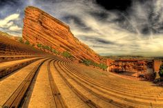 Red Rocks amphitheater in Morrison, Colorado; Many special memories attending summer concerts here...saw Bob Dylan here before he was famous.