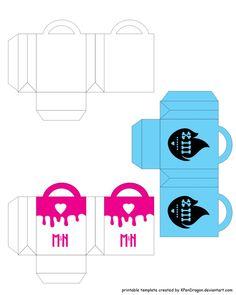MH: Shopping Bag Printable by KPenDragon on DeviantArt Printable Crafts, Printables, Cool Paper Crafts, American Girl Diy, Mini Craft, Baby Invitations, Monster High Dolls, Summer Diy, Diy Dollhouse
