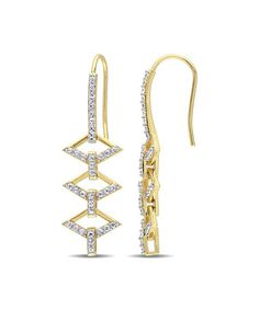 Loving this White Sapphire & Gold Logo Ladder Drop Earrings on #zulily! #zulilyfinds