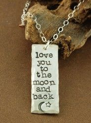 Items similar to Love you to the moon and back Necklace, Hand Stamped Sterling Silver Necklace, Personalized Jewelry, Bar Necklace, Mothers Day Necklace on Etsy Back Necklace, Dog Tag Necklace, Sweet Blossom, Mommy Jewelry, Thing 1, Tiffany Jewelry, Jewelry Design, Unique Jewelry, Personalized Jewelry