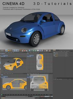 C4D VW Beetle Tutorial by ~3d-tutorials on deviantART  #Cinema 4D, #C4D,#modeling,#tutorial
