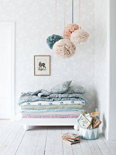 This sweet little room reminds me of the princess and the pea . . .