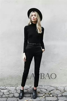 29 Chic All Black Outfit - Annabel Perfect Outfits Looks Street Style, Street Look, Looks Style, Style Me, Street Wear, Mode Outfits, Casual Outfits, Fashion Outfits, Woman Outfits