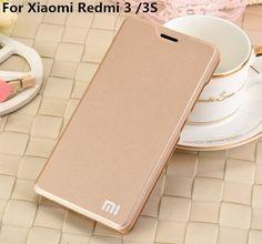 For Xiaomi Redmi 3 3s 3pro 4 4A 4S 4Prime/redmi note4X case smart leather cover luxury fundas flip cover hongmi 3prime with Logo