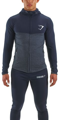 Gymshark Fit Hooded Top 1.0 - Navy Blue/Graphite - Sale - Mens