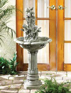 Playful Cherubs Fountain  - $101.97 http://www.bargainbunch.com/100-dollar-store/playful-cherubs-fountain-wholesale.html
