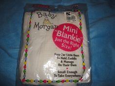 Baby Morgan White Mini Blanket #BabyMorgan