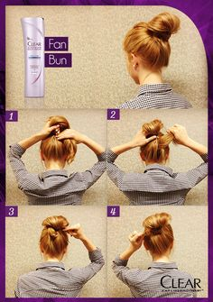 This Fan Bun hair how to will keep you feeling cool all night long.