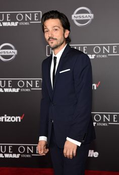 "Diego Luna Photos Photos - Actor Diego Luna attends the premiere of Walt Disney Pictures and Lucasfilm's ""Rogue One: A Star Wars Story"" at the Pantages Theatre on December 10, 2016 in Hollywood, California. - Premiere Of Walt Disney Pictures And Lucasfilm's ""Rogue One: A Star Wars Story"" - Arrivals"