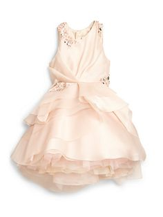MILLY MINIS - Girl's Embellished Silk Party Dress - Saks.com