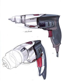 Skil - Powertools/ Sketch and the behind of it Id Design, Sketch Design, Shape Design, Tool Design, Design Process, Cool Sketches, Cool Drawings, Sketch Inspiration, Design Inspiration