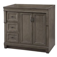 Naples 36 in. W Vanity Cabinet Only in Distressed Grey NEW #Naples
