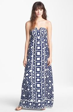 ALICE & TRIXIE 'Fontaine' Print Silk Maxi Dress available at #Nordstrom
