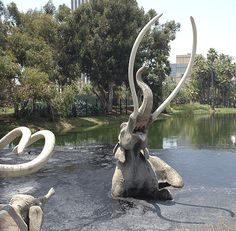 La Brea Tar Pits is a group of tar pits that is registered as a National Natural Landmark. You can explore the tar pits and visit the accompanying museum which does cost a fee. Visiting the pits however is completely free.