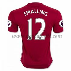 Billige Fotballdrakter Manchester United 2016-17 Smalling 12 Hjemme Draktsett Kortermet Manchester United Trikot, Premier League, Soccer, The Unit, Club, Sports, Shopping, Beginning Sounds, Futbol