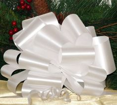 White Pull Bows - 9' Wide, Set of 6 * You can find out more details at the link of the image.