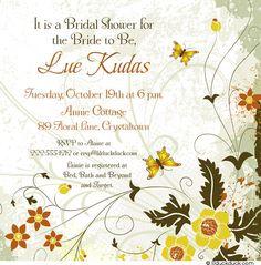 Summer Flowers Bridal Shower Invitation