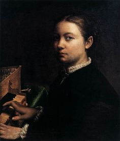 Sofonisba Anguissola, Self Portrait Playing the Spinet, 1556-57