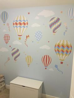 Hot Air Balloons & Kites Premium Self Adhesive Fabric Nursery Wall Art Stickers by  Enchanted Interiors