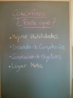 Y para qué Coaching...