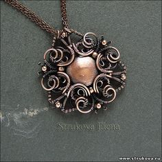Strukova Elena - авторские украшения - кулон...