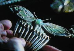 Hair comb Titanic replica butterfly comb by DragonsLairVintage