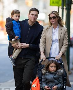 Ivanka Trump and Jared Kushner are seen just two days ago on March 26 with their two children out in New York City