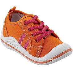 Wee Squeak Baby Toddler Little Girls Sneakers Orange Pink Tennis Shoes