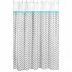 Chevron shower curtain. Cute stuff and reasonable prices