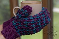 Ribbed Mittens free crochet pattern