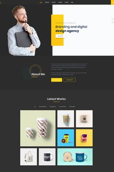 Buy Mak - Personal Portfolio & Resume WordPress Theme by DroitThemes on ThemeForest. Mak is an elegant and minimal personal portfolio WordPress theme. It is built upon some fresh, clean, creative, mode. Layout Design, Website Design Layout, Web Layout, Website Design Inspiration, Ux Design, Personal Website Design, 2020 Design, Graphic Design, Design Agency