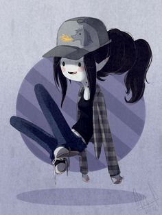 This looks just like me during high school except I wore a Victorian trench coat over the jeans and black shirt.  Marceline by =Wthe
